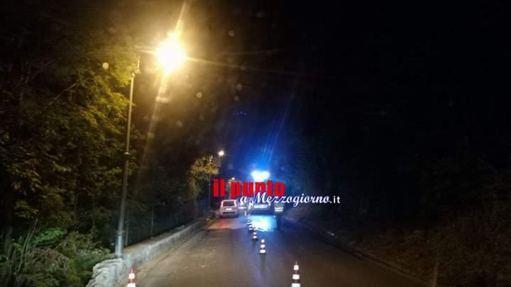 Si schianta con l'auto contro un muro sulla Provinciale per Montecassino