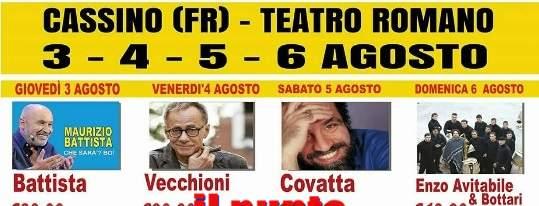 Rinviato il concerto di Enzo Avitabile e l'Orchestra dei Bottari, in programma stasera al teatro romano