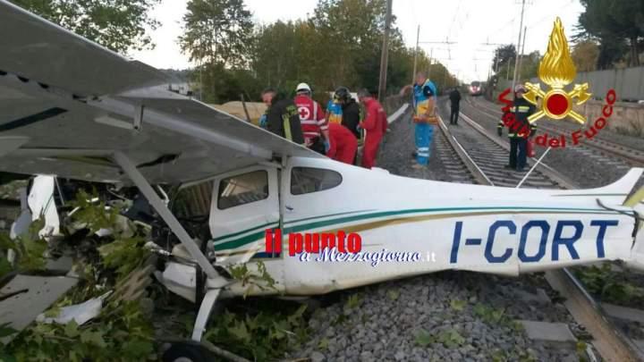 Cade un velivolo ultraleggero sulla Salaria, Alta velocità bloccata