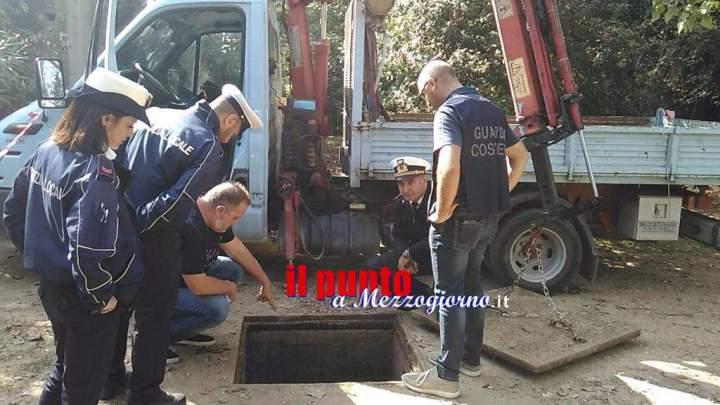 Formia, scarico fognario abusivo nel rio Santa Croce: sanzionata Acqualatina