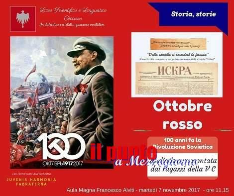 """""""Ottobre rosso"""" una mostra del Liceo di Ceccano ricorderà i 100 anni della Rivoluzione sovietica"""