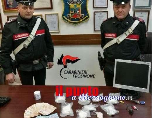 Frosinone, 2 arresti 2 denunce e 750 gr di cocaina sequestrati in operazione dei carabinieri