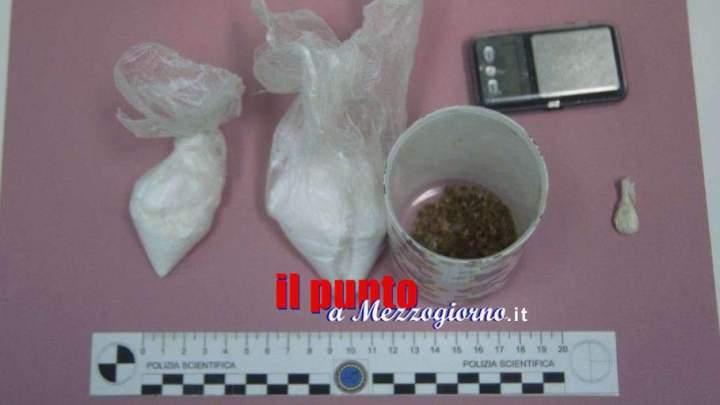 Quarantacinquenne di Cassino arrestato a Teano, spacciava droga in casa nonostante fosse ai domiciliari