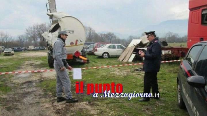 Deposito giudiziario inquinante sequestrato a Ceprano, denunciato 59enne