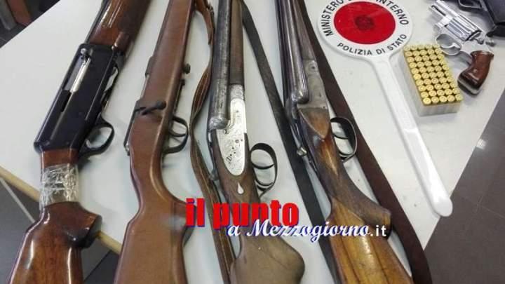 Frosinone, sequestrati altri 4 fucili e 2 pistole nel corso di controlli della Polizia