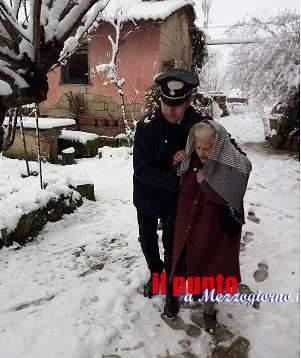Grande freddo: Ceprano, anziana 96enne isolata in casa dalle nevicate, soccorsa dai carabinieri
