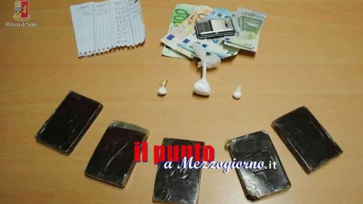Panetti di hashish e cocaina nella dispensa, due arresti a Lariano