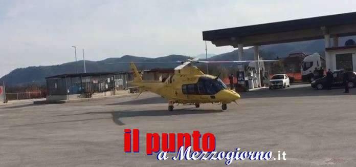 Incidente stradale sull'A1 a Ceprano, ragazza elitrasportata a Roma