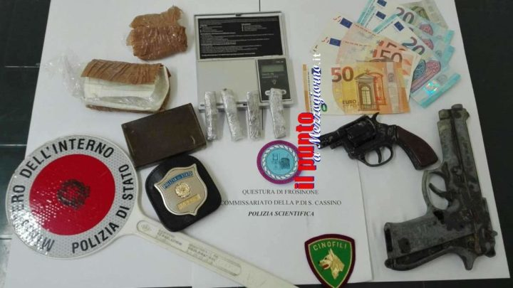 Casa e bottega (dello spaccio), 42enne di Cassino arrestato per droga