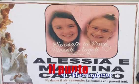 Cisterna di Latina: Questa mattina l'ultimo saluto alle piccole Alessia e Martina