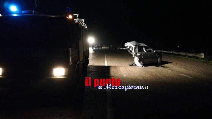 Tre morti e due feriti gravi in un incidente stradale ad Ausonia