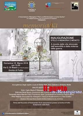 Una stele a memoria e monito delle vittime della distruzione di Cassino