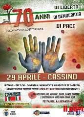 25 Aprile, Festa della Liberazione, manifestazione e corteo organizzato dall' A.N.P.I. domenica 29