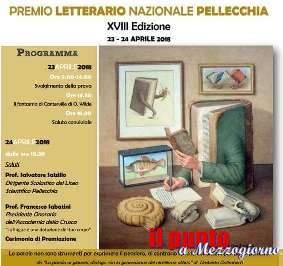 """XXXVII edizione del """"Premio Nazionale Gioacchino Pellecchia"""", oggi la premiazione dei vincitori"""