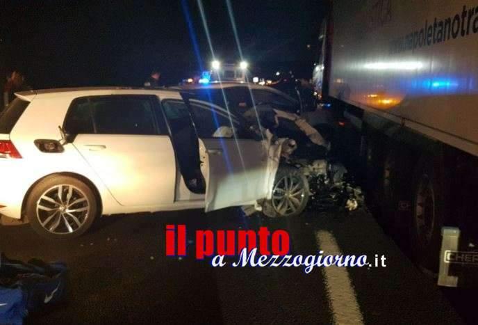 Ruba un'auto a Frosinone, ladro inseguito sull'A1 si schianta a Cassino
