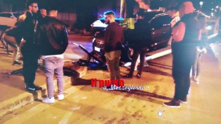 Cassino, scontro tra due auto fra corso della Repubblica e via Verdi, abbattuto il semaforo