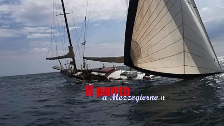 Imbarcazione del 1912 si inabissa al largo di Gaeta, salvati due diportisti