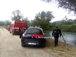 ricerche fiume carabinieri1