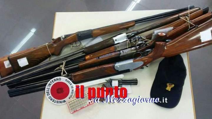 Questura di Frosinone, 80 tra fucili e pistole destinate alla distruzione