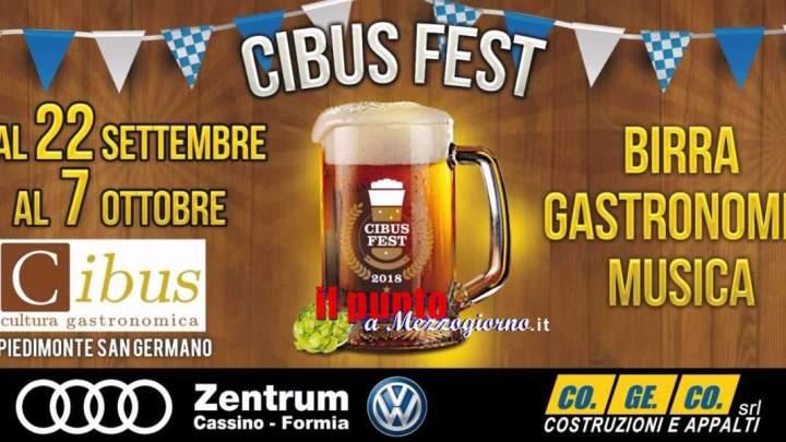 Cibus Fest, comincia stasera l'Oktoberfest di Piedimonte San Germano