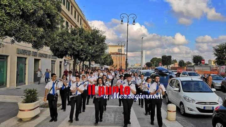 La banda 'Don Bosco Città di Cassino' a Fiumicino per i festeggiamenti per la nascita dell'imperatore Traiano