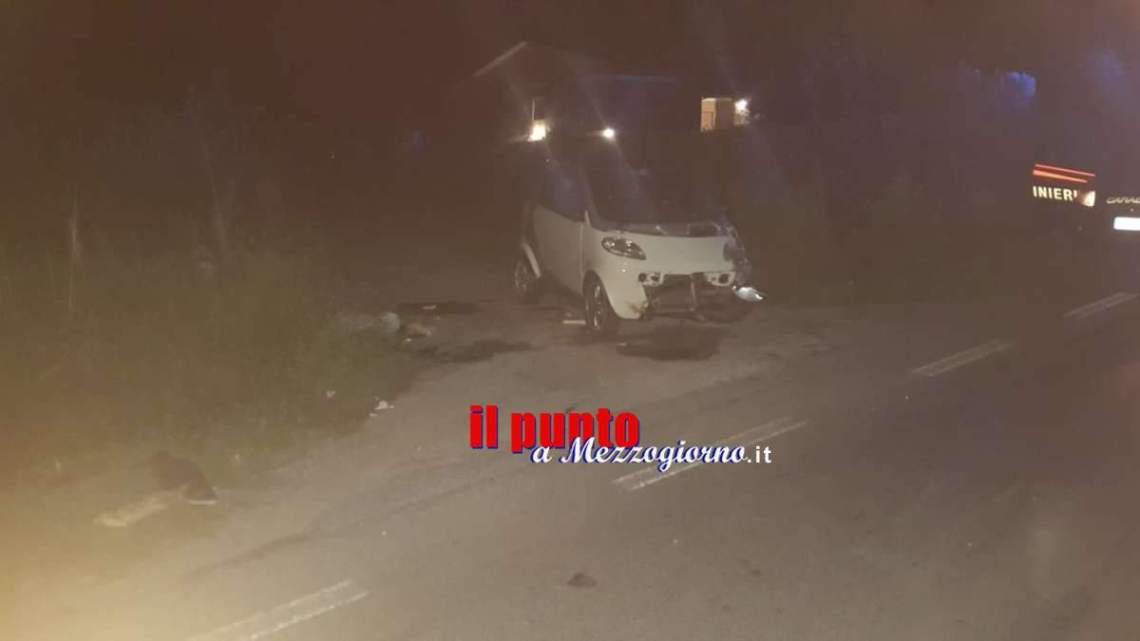 Auto investe ed uccide un cinghiale a Cassino, ferita la conducente