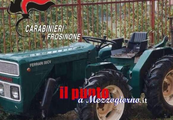 Arava con il trattore rubato, denunciato agricoltore di Ceccano