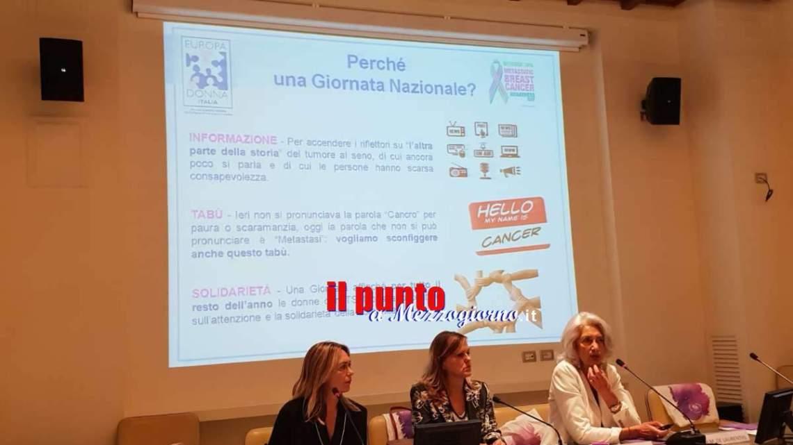 """Tumore al seno metastatico, 35mila le italiane colpite. """"Noi ci Siamo"""" chiede istituzione Giornata Nazionale"""