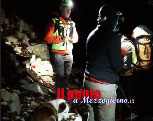 Escursionisti sorpresi dal temporale sui Monti Lepini, soccorsi dal Cnsas di Collepardo