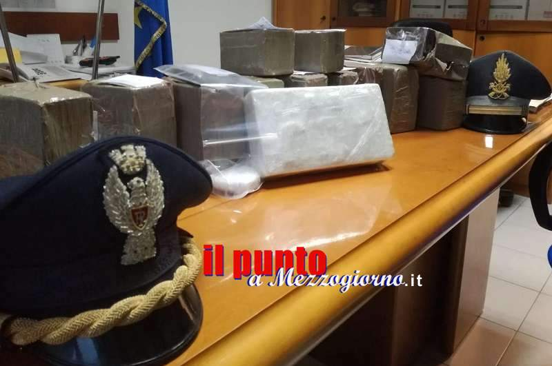 Sorpreso con 12 kg tra hashish e cocaina, arrestato a Sora carrozziere 23enne