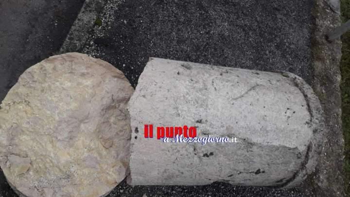 Cassino, la frenesia del tempo e quei 90 centimetri di polvere e storia di cippo Borbonico decapitato