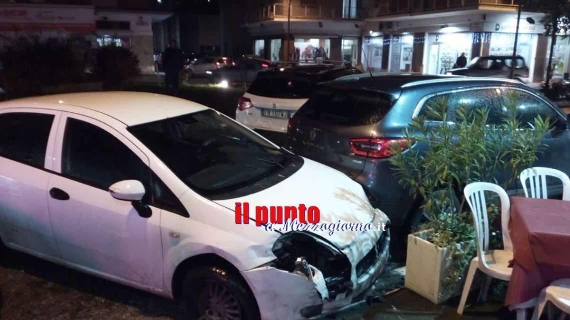 Incidente stradale il largo Dante a Cassino, cinque auto coinvolte