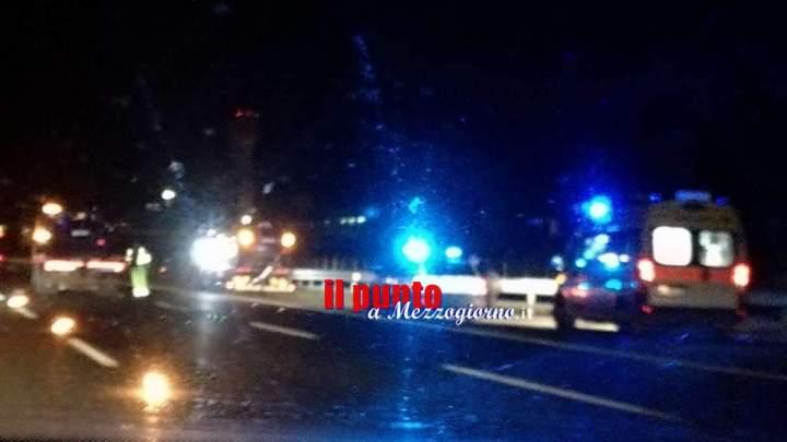 Incidente stradale sull'A1 Roma Napoli, tamponamento tra Tir ferito 28enne
