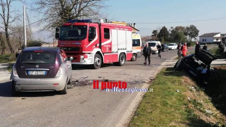 Incidente stradale tra Badia di Esperia e Pontecorvo, tre feriti