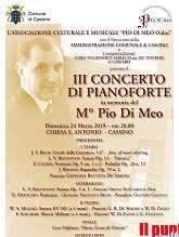 Cassino, III Concerto di pianoforte in ricordo del M° Pio Di Meo nella chiesa di S. Antonio