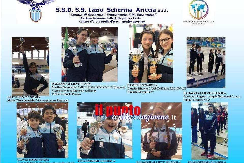 Al Campionato Regionale Under 14 splendono le medaglie della Lazio Scherma Ariccia