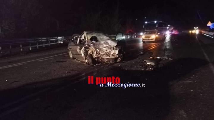 Drammatico incidente stradale sulla Cassino Sora, due morti e cinque feriti tra cui una bimba di 9 mesi