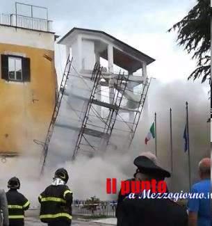 VIDEO – Crolla palazzo di tre piani a Ceaprano, miracolati gli avventori di un bar