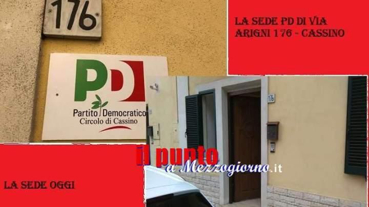 Chiude la sede Pd di Cassino di via Arigni 176. Quale futuro per il partito dopo il 26 maggio?