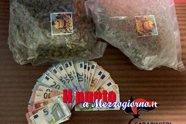 Un chilo di marijuana nel talamo nuziale, arrestati a Frosinone moglie e marito