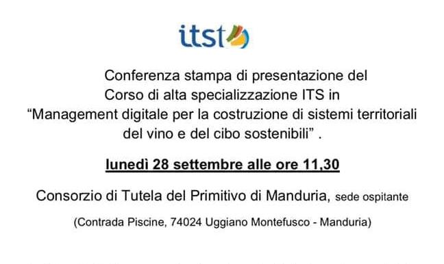 Manduria, al via il corso di Management digitale per la costruzione di sistemi territoriali del vino e del cibo sostenibili