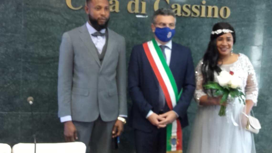 Dalla Nigeria a Cassino si sposano in Comune