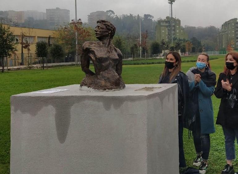 Frosinone, inaugurate due sculture al Parco Matusa