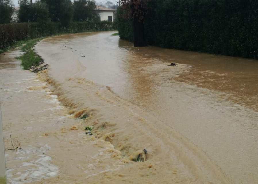 Maltempo, strade allagate a Pontecorvo