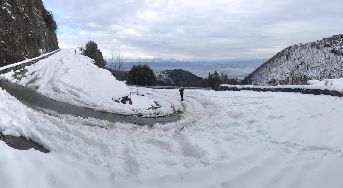Supino – Befana con la neve, Santa Serena imbiancata nelle foto di Gino Coletta