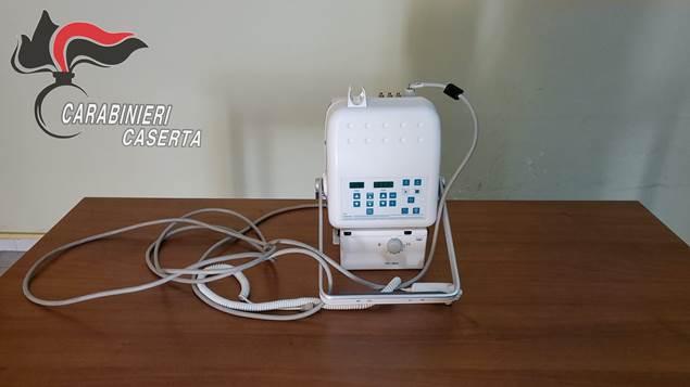 Sessa Aurunca – I carabinieri restituiscono apparecchio portatile per radiografie rubato a settembre