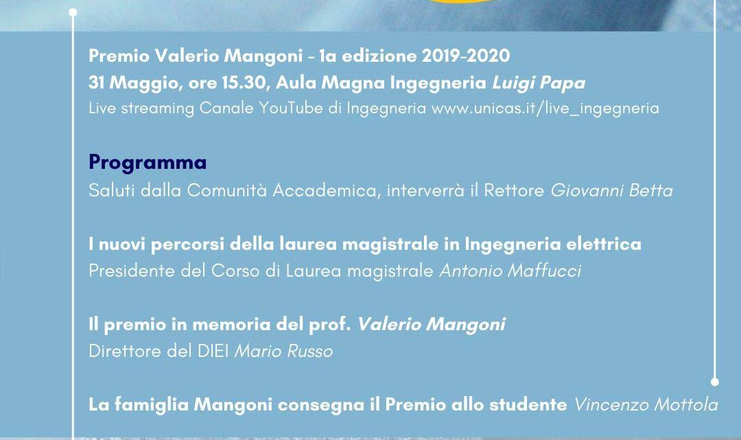 La famiglia Mangoni consegna il Premio allo studenteVincenzo Mottola