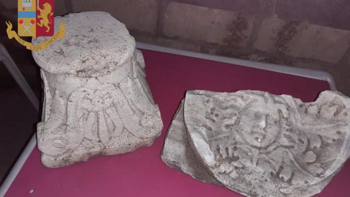Roma – Reperti storici sequestrati grazie alla segnalazione di un archeologo, tre denunciati