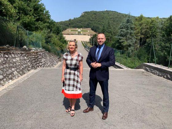 Anna maria Anders e Karol Nawrocki a Montecassino