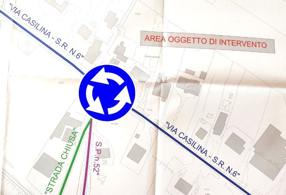 Aquino – Intervento di 400 mila euro per realizzare la rotatoria sulla Casilina